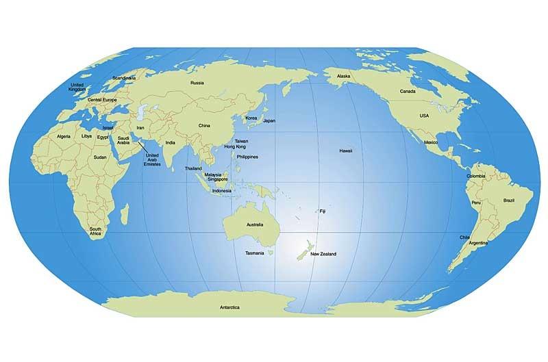 AU world map